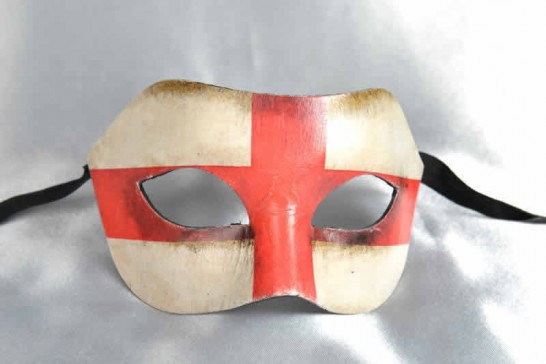 Venetian Masquerade Mask with the flag of England