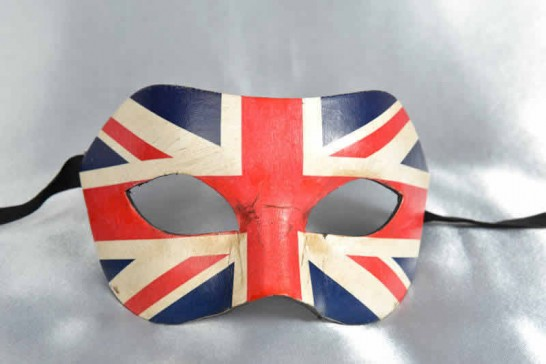 Venetian Masquerade Masks with the United Kingdom Flag
