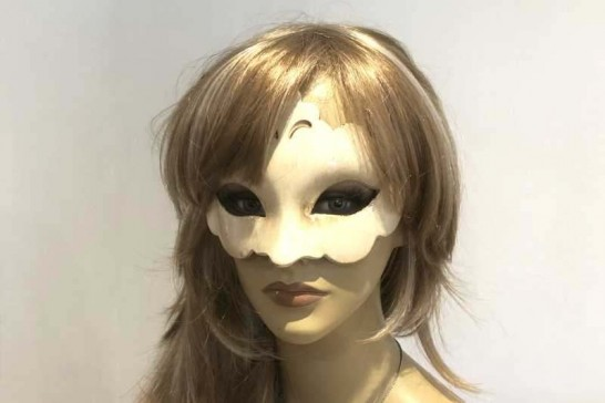 Budget tiara masquerade mask Giglio Plain on female face