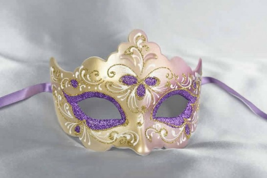 Purple ball mask - Giglio Fiore Gold
