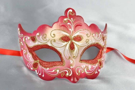 Red ball mask - Giglio Fiore Gold
