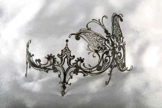 Carina Glass - Butterfly Masquerade Masks for Glasses
