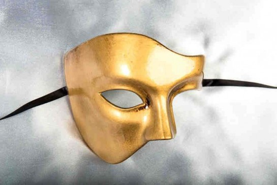 Gold Phantom Style Masquerade Masks
