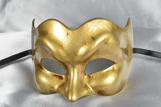 Gold Joker Masquerade Masks for Men