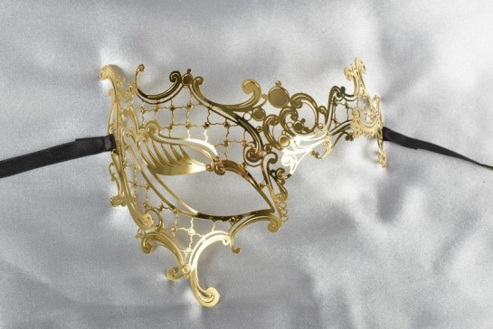 gold half face Phantom mask
