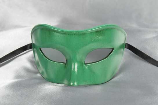 Colombina Masquerade mask in green