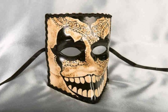 Notte Oscura Bauta - Traditional Dark Night Full Face Halloween Mask