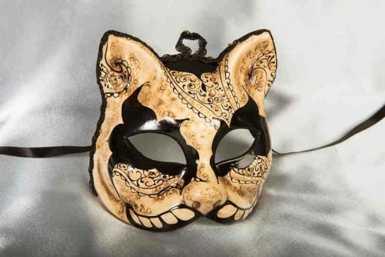Notte Oscura Gatto - Dark Night Halloween Mask for Cat Lovers