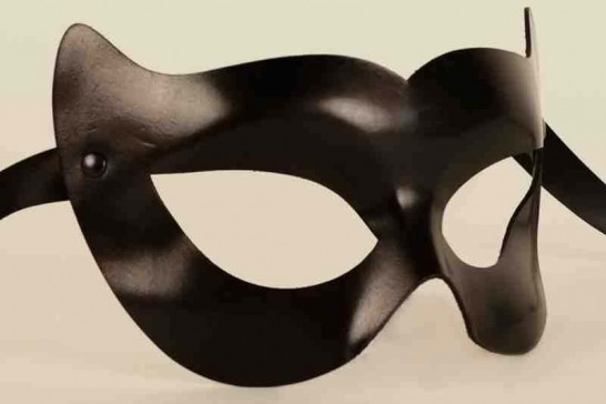Leather Vampire masquerade Mask