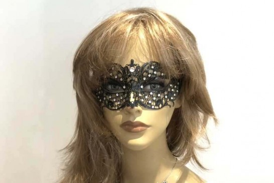 lace mask named Brilla shown on female model face