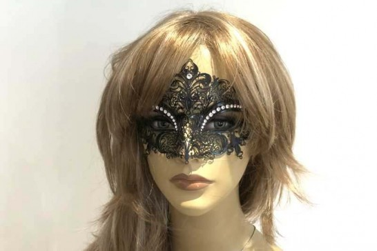 lace mask named Diana shown on female model face