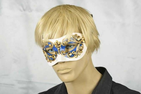 Venetian mask Colombina Occhi on male model face