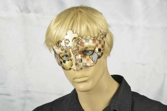 masquerade ball mask Giglio Mosaic on male face