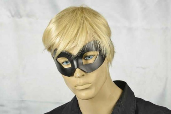 masquerade ball mask leather mask Hero on male face
