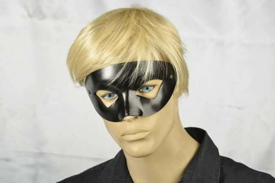 masquerade ball Venetian mask leather Estro on male face