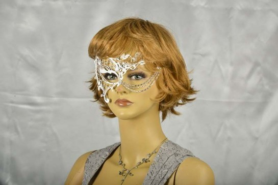 luxury lace masquerade mask shown on model face