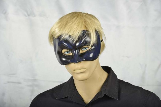 Joker face masquerade mask in one solid colour on mans face