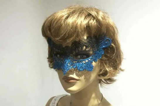 lace masquerade mask Merletto on female model face