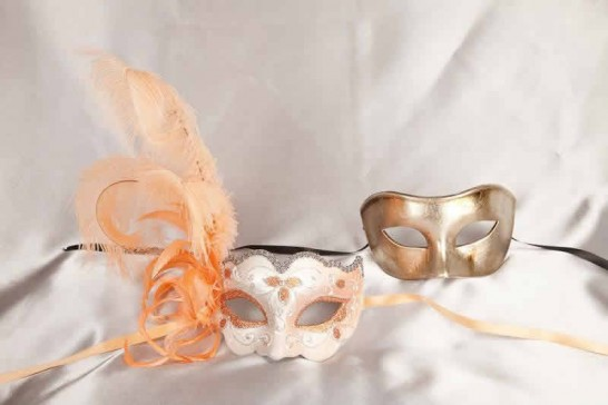 peach couples masks