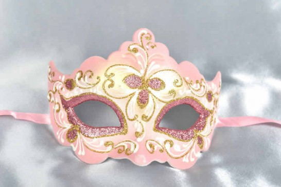 Pink ball mask - Giglio Fiore Gold