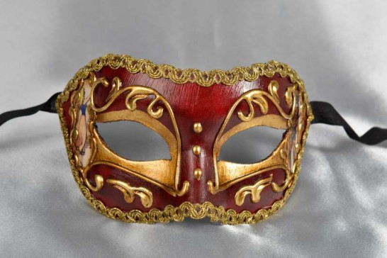 red Venetian character mask