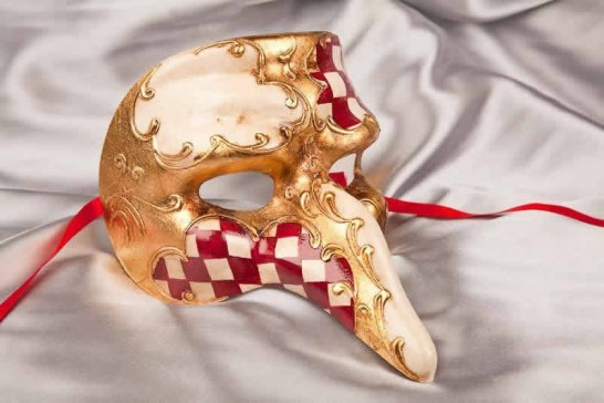 Red Captain Scacchi - Il Capitano Snub Nose Beak Mask