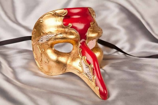Red Captain Gold - Il Capitano Snub Nose Beak Mask
