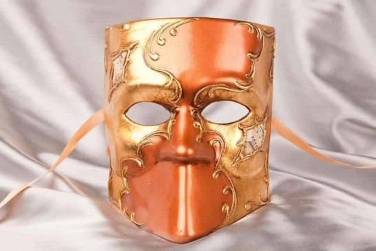 Venice carnival mask - Bauta brown