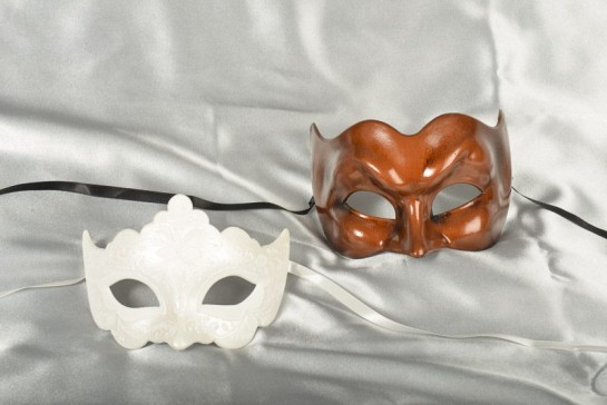 Couples masquerade masks - Giglio and Joker