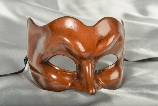 Rust Brown Joker Masquerade Masks for Men