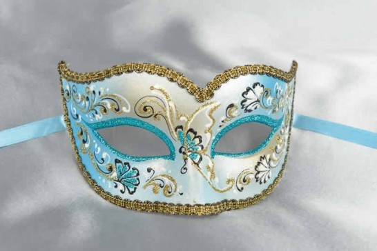 Turquoise carnival mask