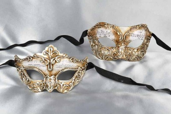 Vivian Madam Silver - Venetian Masks for a Couple