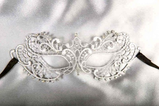 Fifty Shades Mask in silver