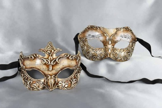 silver masks for couples