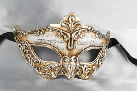 Silver Madam Music - Silver Leafed Masks for Women