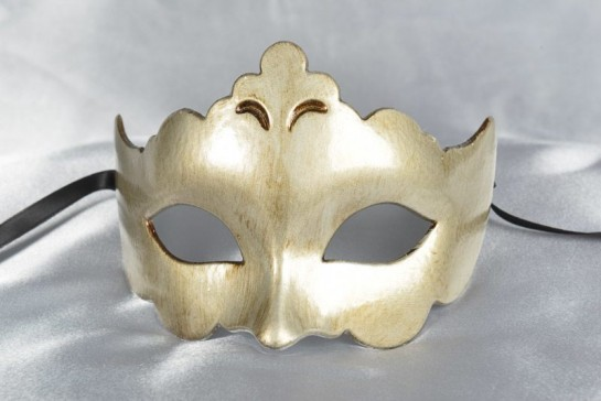 Plain and simple carnival masquerade mask in silver