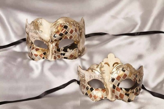 Couples masks in Silver