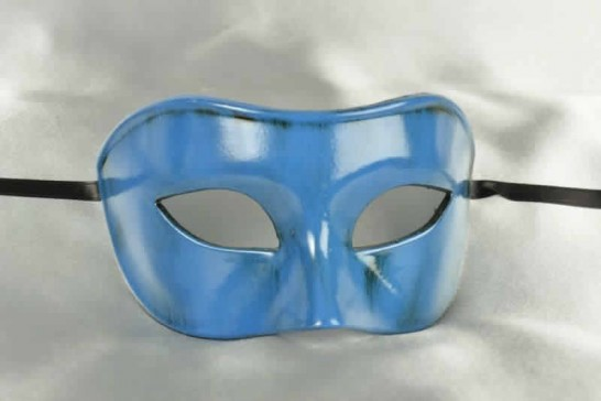 Colombina Masquerade mask in turquoise