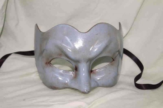 Joker face masquerade mask in one solid colour - pale turquoise