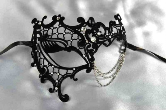 black velvet phantom mask