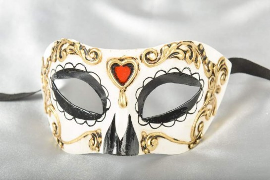 day of the dead colombina masquerade mask