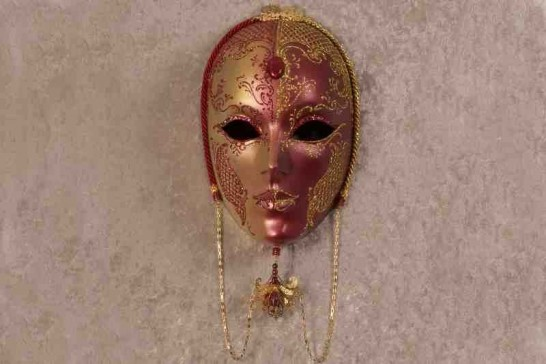 Red Volto Madam - Luxury Handmade Venetian Mask