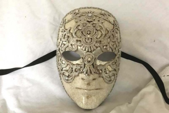 Silver Volto Macrame Maschille - Eyes Wide Shut Mask for Men