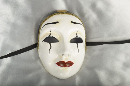 Black and White Pierrot Mask