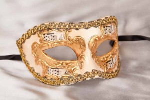 masquerade ball mask with music Larga Melody