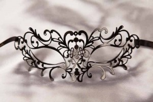 Filigree Metal Laser Cut Masquerade Masks - DONNA