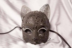 Gatto Fu Gloss - Luxury Egyptian Cat Mask with Swarovski Crystals