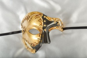Fantasma Phantom masquerade mask in gold and black