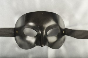 masquerade ball mask black leather Opera