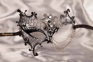 black luxury lace masquerade mask